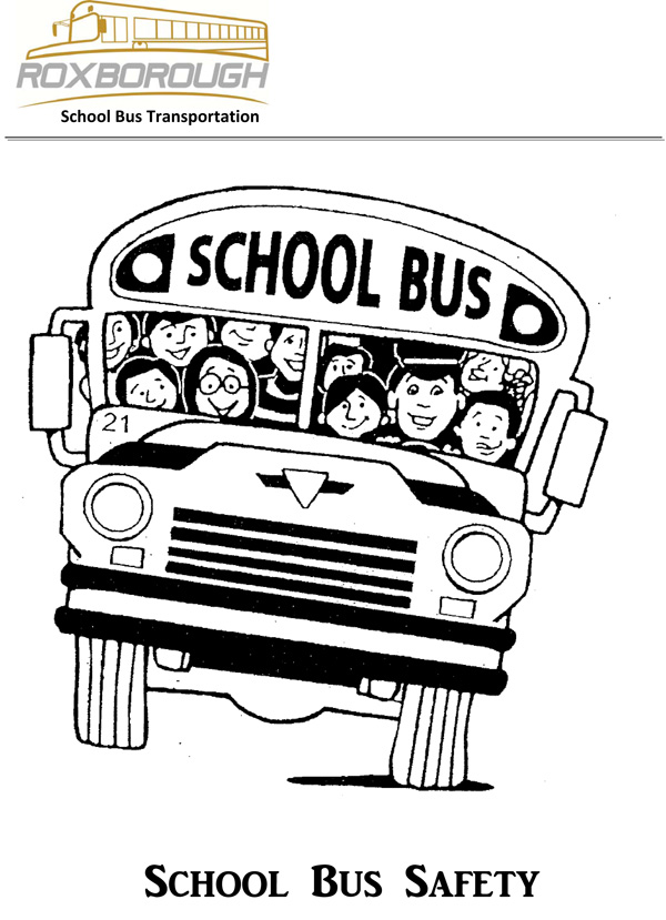 free colouring book print bus safety