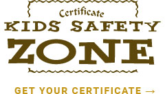 kids safety zone certificate