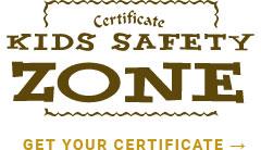 kids safety zone certificate